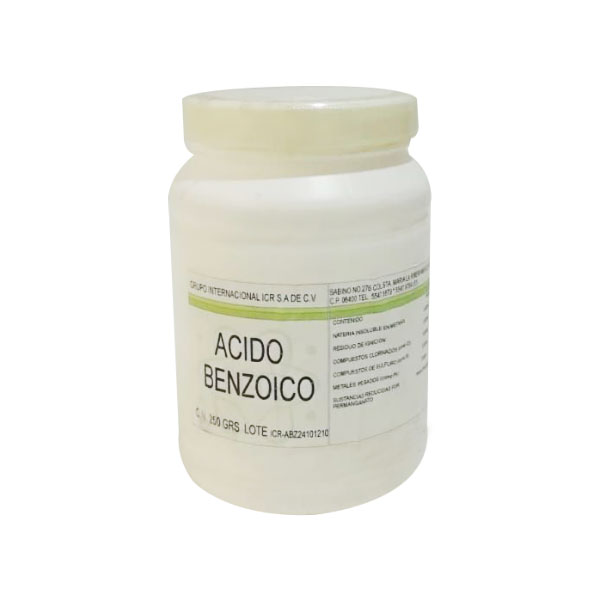 Limpieza acido benzoico